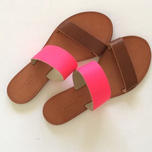 Joie Slip On Hot Pink/ Tan Sandals