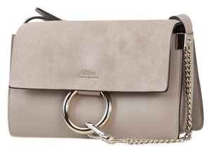 Chloé Suede Faye Chloe Faye Chloe Faye Small Chloe Faye Gray Cross Body Bag