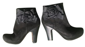 Chie Mihara Rose Suede Leather Black Boots