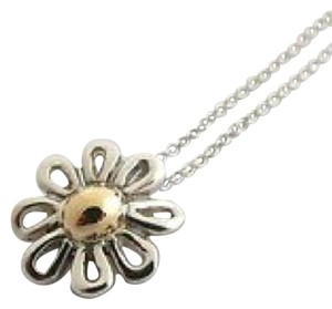 Tiffany & Co. Tiffany & Co Silver Gold Daisy Flower Pendant with Chain