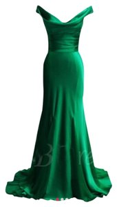Tbdress Prom Formal Bridesmaid Charmeuse Green Dress