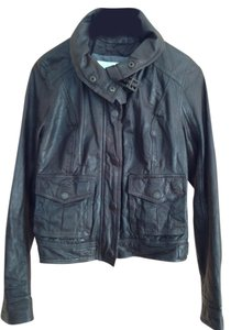 Abercrombie & Fitch Chocolate brown Leather Jacket