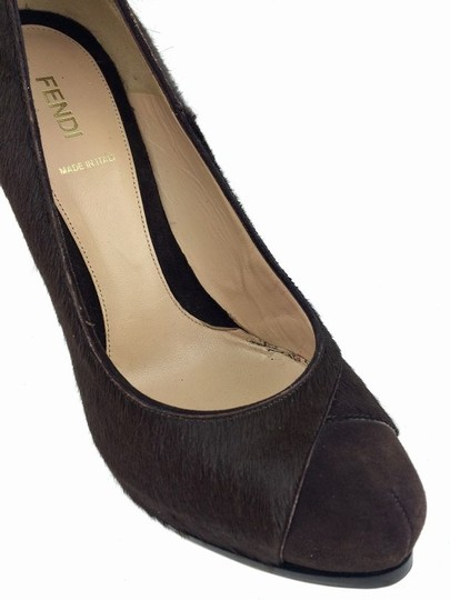 Fendi Stiletto Leather Brown Pumps