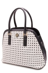 Tory Burch Satchel in Navy Blue, White