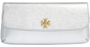 Tory Burch Diana Silver Clutch