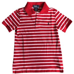 Polo Ralph Lauren Button Down Shirt red with white stripe