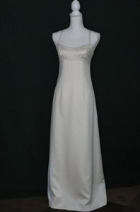 Nicole Miller Vintage Nicole Miller Ivory Empire Waist A-line Wedding Gown W/bolero Wedding Dress