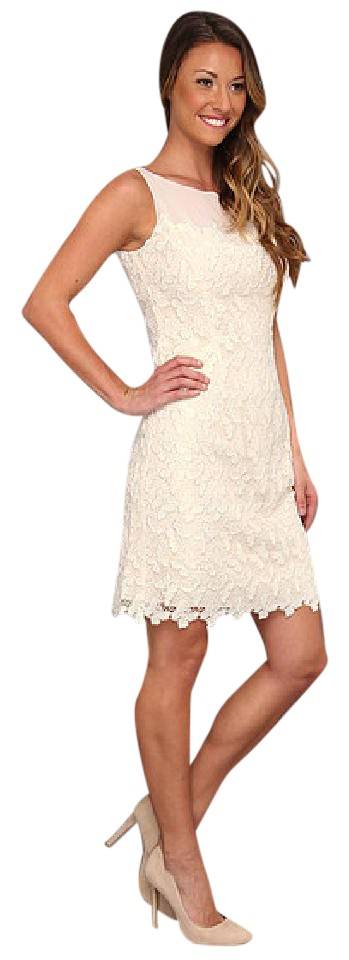 6c3d1692204f56 Lilly Pulitzer Ivory 'fulton' Sheath In Gold Metallic Butterfly Lace ...