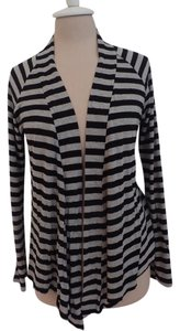 Olivia Moon Striped Cotton Longsleeve Lightweight Cardigan