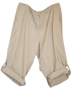 Axcess Cropped Liz Claiborne Stretchy Capris cream/beige