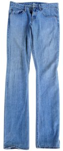 Levi's Lowrise Supersoft Vintage Distressed Straight Leg Jeans-Light Wash