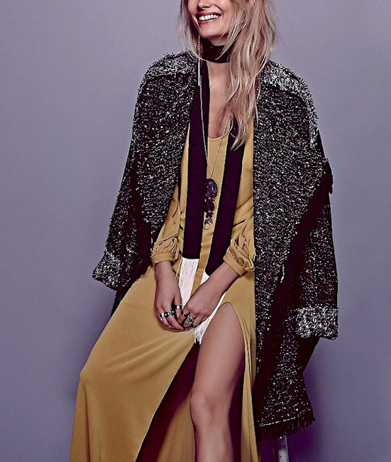 Free People Jacket Warm Belted Mixed Fp Oversized Wrap Trench Coat