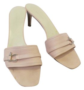 Burberry Leather Sandals Size 10 Slides Pink Mules