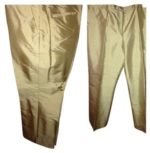 Ann Taylor Straight Pants GOLD
