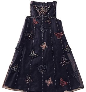 Valentino Beaded Tulle Butterfly Applique Dress