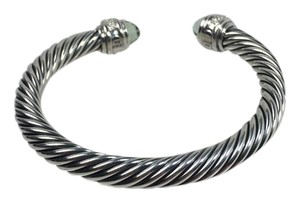 David Yurman DAVID YURMAN 7mm Prasiolite & Diamonds 0.48 Carat Cable Classic BRACEL
