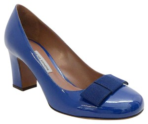 Tabitha Simmons Bow Patent Leather navy patent Pumps