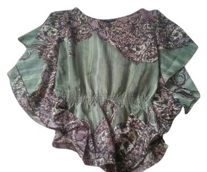HeartSoul Flowy Earthy Top Green