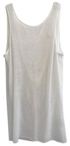 Helmut Lang Low Back Going Out Black Semi Sheer Top White