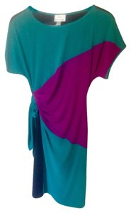 Donna Morgan short dress Teal, Fushia on Tradesy