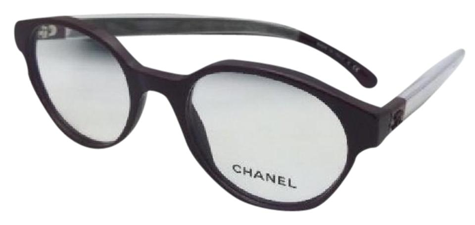 Chanel New 3273 1448 49-19 140 Burgundy & Clear Frames Sunglasses ...
