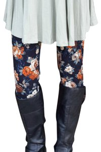 Other Buttery Soft Black Shay And Jazzy Navy Vintage Floral Leggings