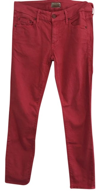 Item - Berry Red The Looker Crop In Haute 1121-142 Capri/Cropped Jeans Size 26 (2, XS)