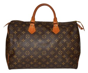 Louis Vuitton Monogram Speedy Handbag Satchel in Brown