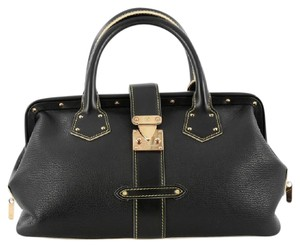 Louis Vuitton Leather Black Satchel in Balck