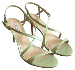 Charles David Stiletto Leather Formal Classic Mint Green Sandals