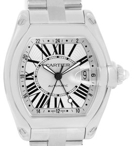 Cartier Cartier Roadster GMT Silver Dial Stainless Steel Mens Watch W62032X6