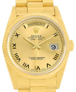 Rolex Rolex President Day-Date 18k Yellow Gold Roman Dial Mens Watch 18238