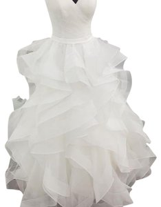 Allure Bridals Ivory Organza and Tulle 9375 Wedding Dress Size 6 (S)