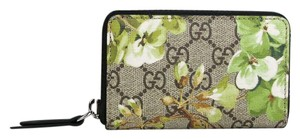 Gucci Gucci GG Bloom Floral Coated Canvas Zipper Card Case 410220 8966