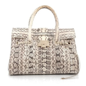 Jimmy Choo Snakeskin Satchel in Brown