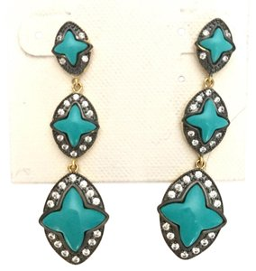 Freida Rothman 14 gold plated sterling silver turquoise