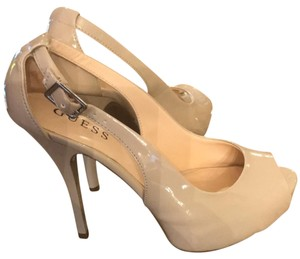 Guess By Marciano Patten Leather/ Nude Platforms