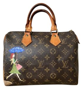 Louis Vuitton Speedy 25 Monogram Satchel in Brown