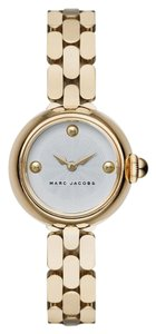 Marc Jacobs Marc Jacobs courtney gold small white face watch