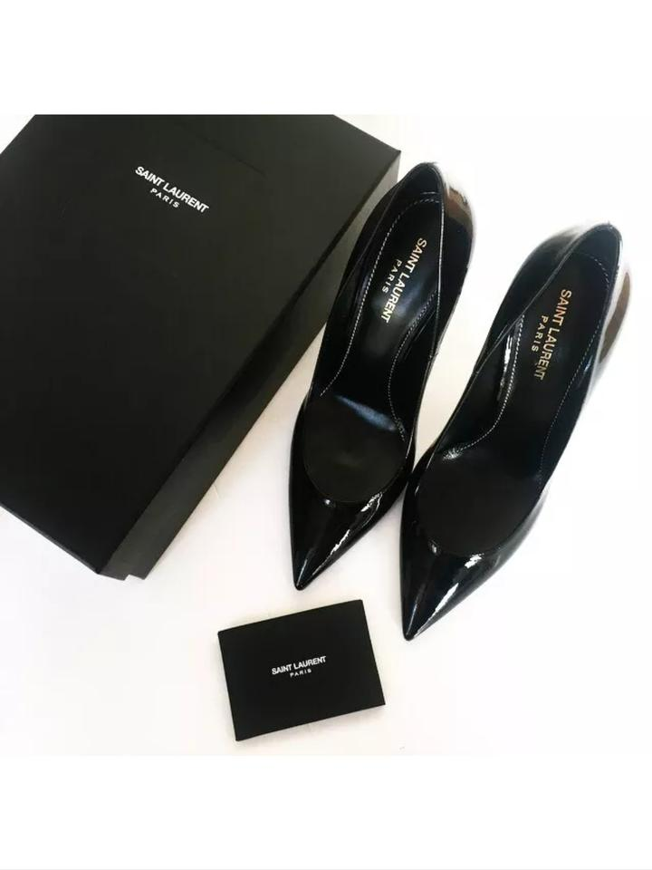 a674b240b80 Saint Laurent Black Ysl Opium   Heels 100mm Pumps Size US 7 Regular ...