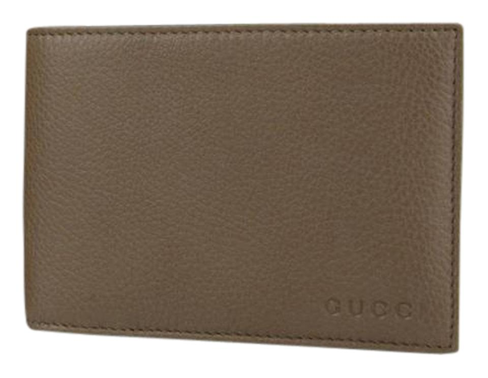 87c8e8cd664 Gucci Gucci Brown Leather Bifold Wallet w Logo and Coin Pocket 292534 2527  Image 0 ...