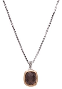 David Yurman David Yurman Sterling Silver & 18K Gold Smoky Quartz Noblesse Necklace