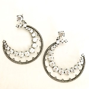 Nadri 'Crescent' Cubic Zirconia Drop Earrings