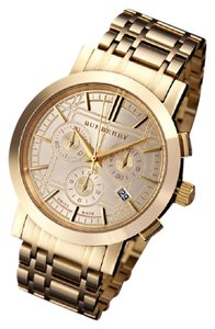 Burberry 100% NEW Authentic Burberry Mens Heritage Gold Chrono Watch BU1757