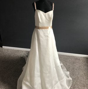 Silk Ivory & Champange Wedding Dress