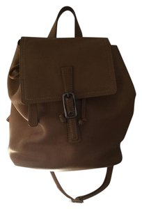 Coach Leather Drawstring Backpack
