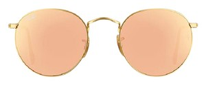 Ray-Ban RB3447 Round Copper Flash/Gold Frame Sunglasses