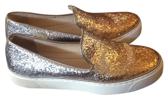 Item - Glitter Gold and Silver Biarritz Skate Sneakers Flats Size US 6 Regular (M, B)