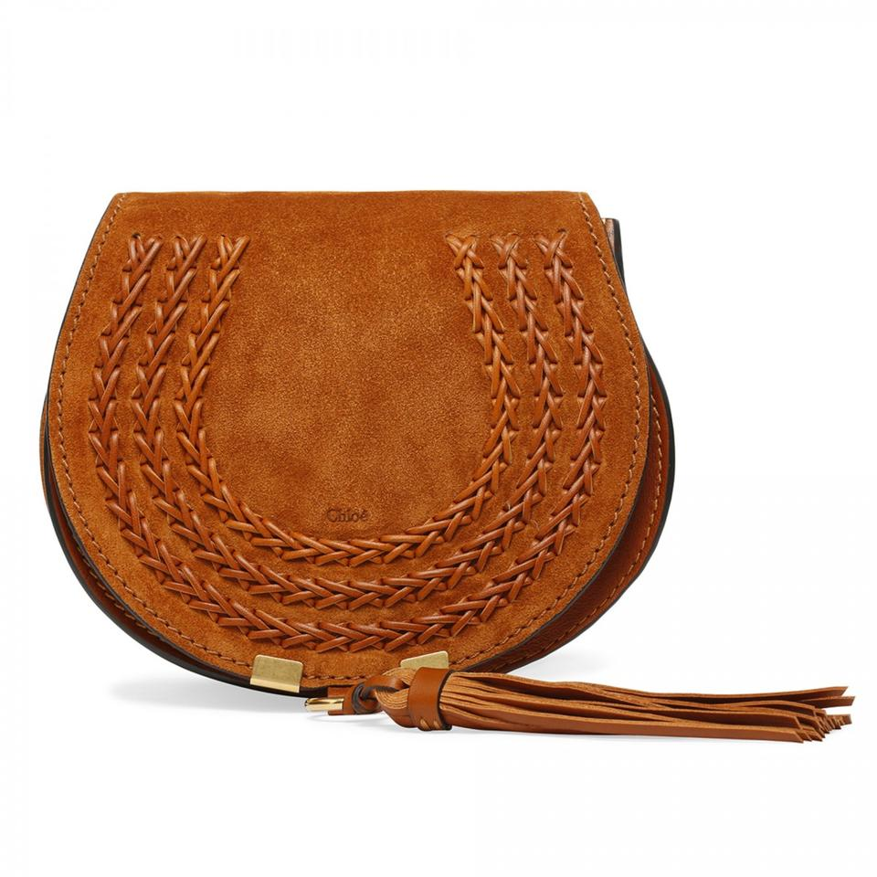 0df41263 Chloé Marcie New Small Mini Caramel Brown Suede and Leather Shoulder Bag  17% off retail
