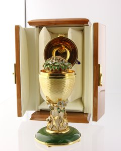 Real Faberge Egg 18k Gold Diamonds And Yellow Sapphires #3 Of 25